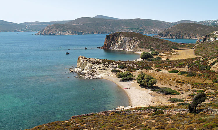Ligginou Beach or Didymes, Patmos Island Greece