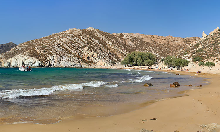 Psili Ammos beach, Patmos Island Greece